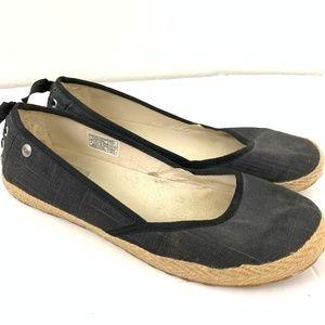 UGG Indah 1003493 Canvas Espadrille Shoes 8